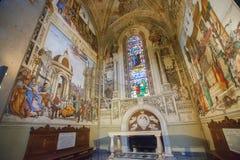 Basilika av Santa Maria Novella i Florence, Filippino Strozzi Arkivfoto