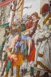 Basilika av Santa Maria Novella i Florence, frescoes vid Filipp Royaltyfri Fotografi
