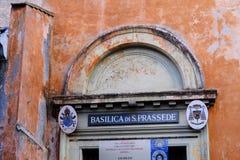 Basilika av Santa Prassede i Rome royaltyfri foto