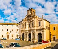 Basilika av St Bartholomew i Rome, Italien Arkivfoton