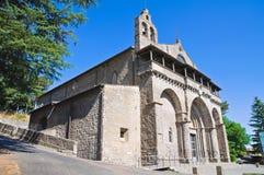 Basilika av St. Flaviano. Montefiascone. Lazio. Italien. royaltyfria bilder