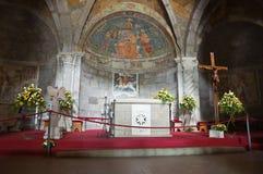 Basilika av St. Flaviano. Montefiascone. Lazio. Italien. Royaltyfri Foto