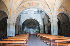Basilika av St. Flaviano. Montefiascone. Lazio. Italien. arkivbilder