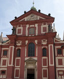 Basilika av St George i Prague Royaltyfria Bilder