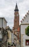 Basilika av St Jacob, Straubing, Tyskland Arkivfoton