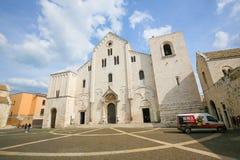 Basilika av St Nicholas i Bari, Puglia, Italien arkivbilder
