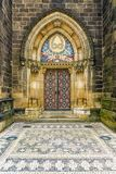 Basilika av St Peter och St Paul i Vysehrad i Prague Fotografering för Bildbyråer