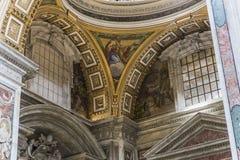 Basilika av St Peter, Vatican City, Vaticanen Arkivbilder