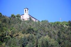 Basilika av St Ubaldo i Gubbio i Umbria Arkivbild