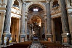 Basilika av Superga Arkivbilder