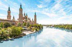 Basilika av vår dam av pelaren i Spanien, Europa royaltyfri fotografi