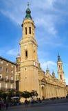 Basilika av vår dam av pelaren, Zaragoza, Spanien Royaltyfri Foto