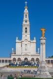 Basilika av vår dam av radbandet och den sakrala hjärtan av Jesus Monument Arkivfoton