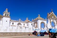 Basilika av vår dam av Copacabana royaltyfri fotografi