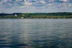 Basilika Birnau przez jezioro zdjęcie stock