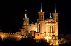 Basilika bis zum Nacht Stockfoto