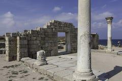Basilika in Chersonesos. Krim. Ukraine stockfotos