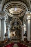 Basilika de Nuestra Señora del Pilar Cathedral i Zaragoza, Spanien royaltyfri foto