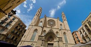 Basilika de Santa Maria del Pi Arkivbilder