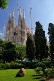 Basilika der heiligen Familie in Barcelona Stockbild