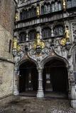 Basilika des Bluts in der Stadt von Brügge stockfotos