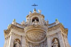 Basilika des Collegiata, Catania Stockfotografie