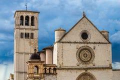 Basilika des Heiligen Franziskus von Assisi - Assisi, Italien Stockfotos