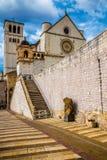 Basilika des Heiligen Franziskus von Assisi - Assisi, Italien Lizenzfreie Stockfotos