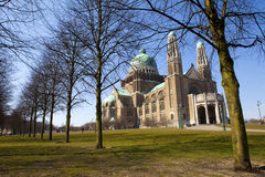 Basilika des heiligen Herzens in Brüssel lizenzfreie stockfotografie