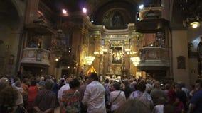Basilika des La Merced-Gottesdienstes stock footage