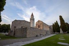 Basilika di Aquileia Gorizia Udine stockfotos
