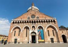 Basilika di Sant ` Antonio da Padova, i Padua Arkivbilder