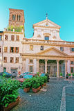Basilika di Sant Eustachio i Campo Marzio i Rome Italien Arkivbilder
