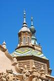 Basilika-domkyrka av vår dam av pelaren i Zaragoza Arkivfoto