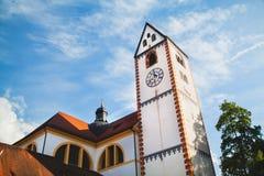 Basilika för ` s för St Mang i Fussen, Bayern, Tyskland Royaltyfri Foto