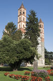 Basilika för St Andrea i Vercelli, Italien Arkivfoto