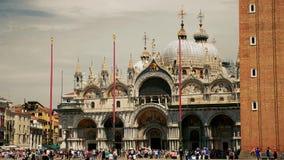 Basilika för St Mark ` s i Venedig stock video