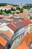 Basilika för St. Procopius och judisk stad (UNESCO), Trebic, Vysocina, Tjeckien, Europa Arkivbild