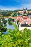 Basilika för St. Procopius och judisk stad (UNESCO), Trebic, Vysocina, Tjeckien, Europa Arkivbilder