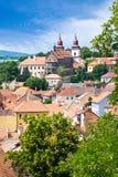 Basilika för St. Procopius och judisk stad (UNESCO), Trebic, Vysocina, Tjeckien, Europa Royaltyfri Fotografi