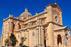 Basilika för Ta Pinu, Gozo ö Arkivfoto