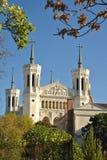 Basilika Fourviere vom Park Lizenzfreies Stockbild