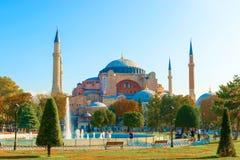 Basilika Hagia Sophia i Istanbul Arkivfoto