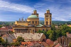 Basilika i Eger Arkivfoto