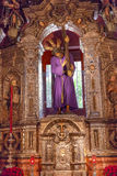 Basilika Jesus Statue Cross Church El Salvador Sevilla Spanien Stockfoto