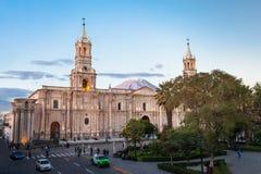 Basilika-Kathedrale, Arequipa Stockfoto