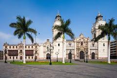 Basilika-Kathedrale, Lima stockbild