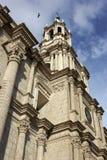 Basilika-Kathedrale von Arequipa in Peru Stockfotos