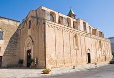 Basilika-Kirche des Karmins. Mesagne. Puglia. Italien. lizenzfreie stockbilder
