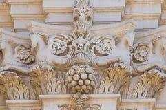 Basilika-Kirche von St. Giovanni Battista. Lecce. Puglia. Italien. lizenzfreie stockfotos